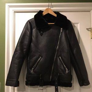 Zara Woman Black Outerwear Jacket Size XS